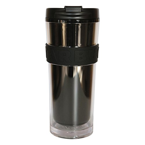 Starbucks Tumbler Core - Botella de agua (473 ml), color negro y blanco