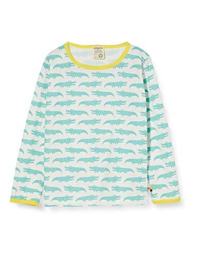 loud + proud Mädchen Longsleeve Shirt Allover Print Organic Cotton Langarmshirt, Grün (Mint Min), (Herstellergröße: 110/116)