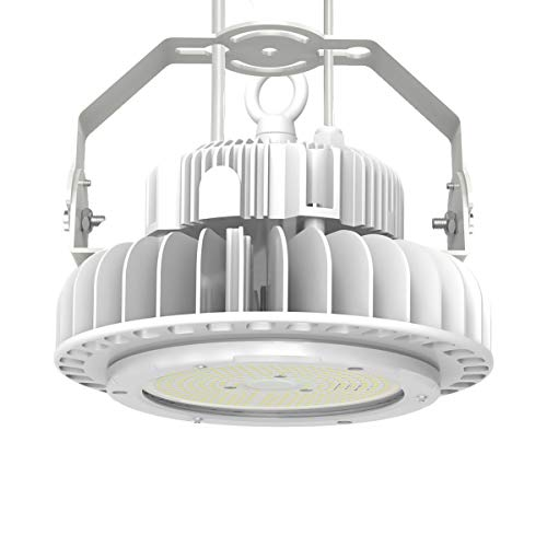 Adiding High Bay LED Warehouse Lighting, 100W UFO High Bay Light Fixtures (Replace 400W HID/HPS) Lumileds Chips 13000 Lumens 5000K Dimmable MEANWELL Driver for Area Barn Garage Workshop DLC UL White