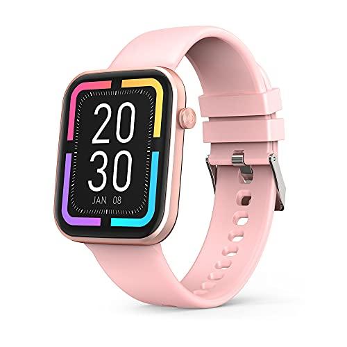 Smartwatch Orologio Fitness Donna Uomo Smart Fitness Tracker,1,69  Schermo Orologio Fitness con Saturimetro(SpO2), Cardiofrequenzimetro da polso Donna Uomo, Activity Tracker per Android iOS (Rosa)