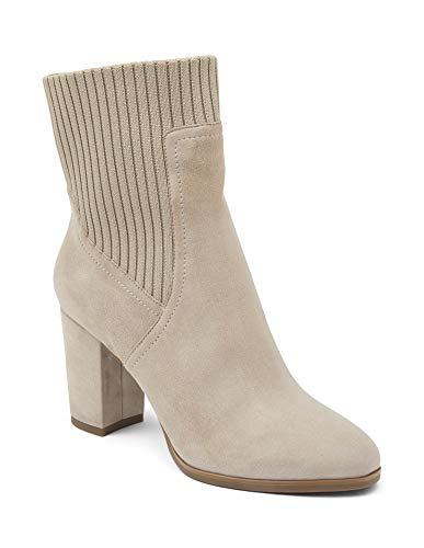 Vionic Women's Perk Kaylee - Ladies Heeled Boot with Concealed Orthotic Arch Support 7.5 Medium Dark Taupe US
