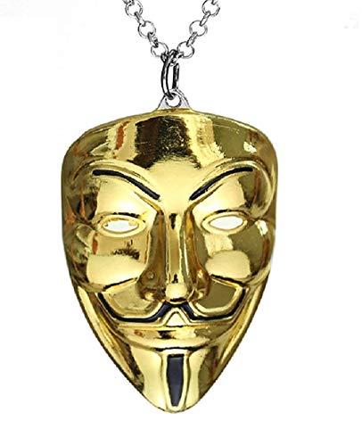 Grote kralen hanger ketting v per vendetta anonymous