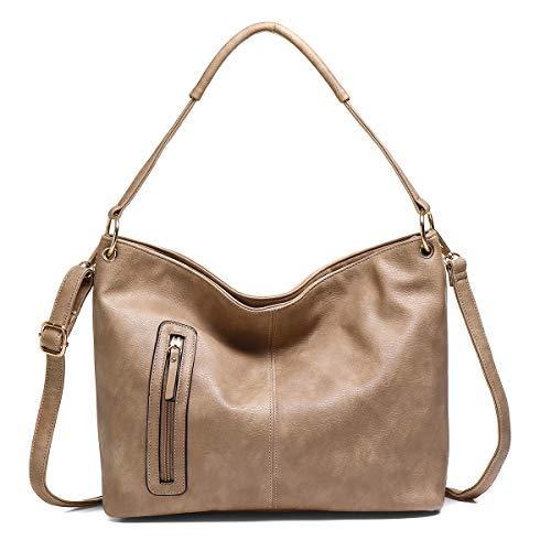 JOSEKO Borsa da donna in PU, borsa a tracolla di grande capacità, elegante borsa da donna con cerniera, tracolla staccabile, semplice e generosa