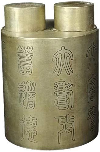 MARUA El Ex Policía Cilíndrica Crisol De Cobre Colección Antiguo Adornado Otros Productos Viejos Más De La Imitación Edad Antigua China Conjunto Bronce Elem. Cabeza