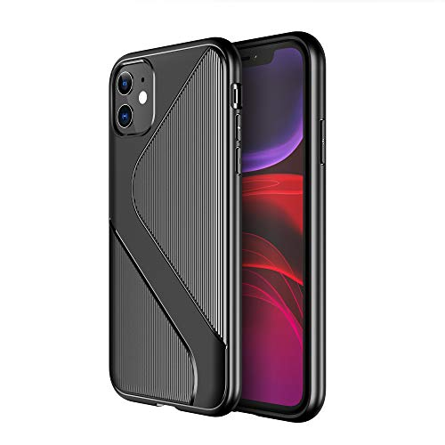 Diztronic Custodia iPhone 11, Cover iPhone 11 PRO Max, 3D Touch S Lined-Grips Cover Anti-Scratch Shock Absorption Case for Apple iPhone 11 / iPhone 11 PRO/iPhone 11 PRO Max (iPhone 11, Black)