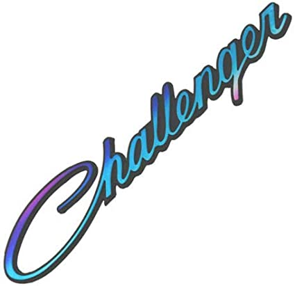 Aizfa for 2pcs Challenger emblem Badge Decal 3D Nameplate Replacement for Challenger blue