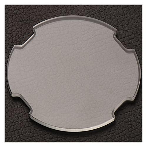 ZRNG Reloj de Cristal Mineral Cubierta de Vidrio Ajuste para Diesel DZ7256 DZ7257 DZ7268 DZ7259 LDZ7395 Little Papi Chronograph Chronograph Light polarizado (Color : 50.5mm Simple)