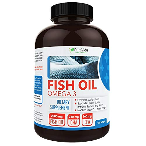 PuraVida Omega 3 Fish Oil Supplement | Amazon