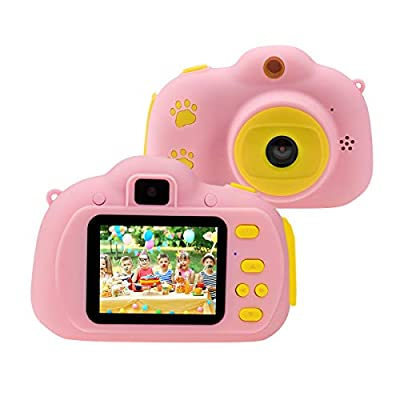 """Rodzon Kids Toys Video Camera, Kids Selfie Camera Digital Video Recorder 2.0"""" IPS Screen HD 1080P, Best Birthday for 3 4 5 6 7 8 Year Old Boys Girls, Including 32GB SD Card"""