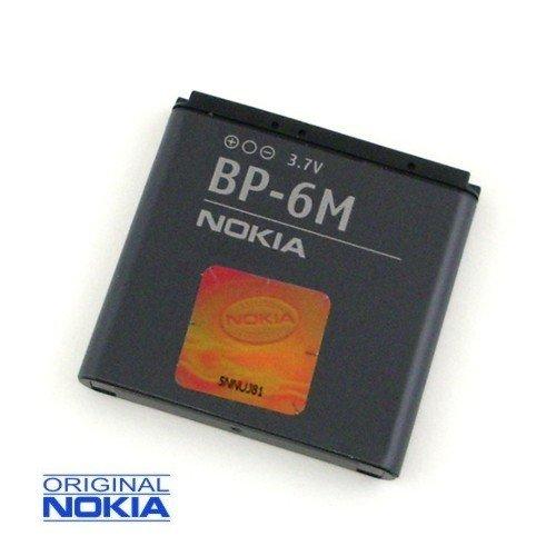 Batteria di Ricambio BP-6M ai polimeri di Litio 1100 mAh (Originale) Nokia 6280, Nokia 6288, Nokia 6233, Nokia 6234, Nokia N93, Nokia N73, Nokia N73 Music Edition