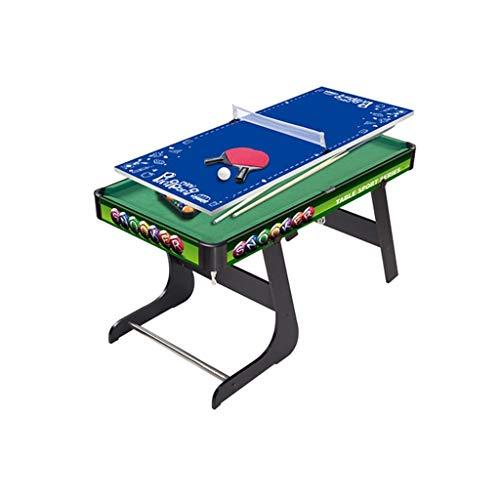LCRACK Billiard-Tisch, Snooker-Set Multifunktion Tischtennis Stetiger Combo-Spieltisch (Farbe : Faltbare)
