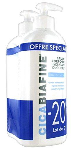 CICABIAFINE Baume hydratant corporel quotidien - Lot de 2 x 400 ml
