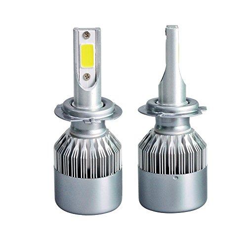 2pcs H7 Ampoules Phares LED, Zloer 7600LM H7 Lampe Ampoule COB pour Kits de Phares pour Voitures, IP65 6500K 72W Conversion de Rechange Auto Eclairage Feu Lumière pour Voiture Véhicule Automobile - H7