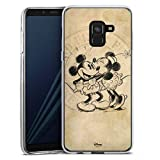 DeinDesign Silikon Hülle kompatibel mit Samsung Galaxy A8 Duos 2018 Hülle transparent Handyhülle Mickey Mouse Minnie Mouse Vintage