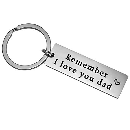 XYBAGS Fathers Day Gifts for Dad from Son Daughter - Remember I Love You Dad Keychain, Birthday Christmas Personalized Gift for Papa