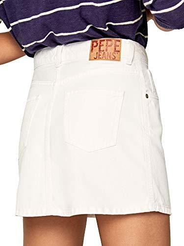 Pepe Jeans Rachel Skirt Falda, Blanco, L para Mujer