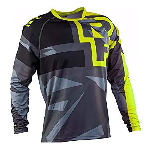 Mountainbike-Trikot, Mountainbike-Trikot Herren, Downhill-Trikot Mountainbike-Rennbekleidung Herren MTB Shirt Long Moto Motocross Downhill XXL