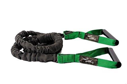 DITTMANN Premium Body Tube Expander Fitnessband Nylonummantelung grün/mittel