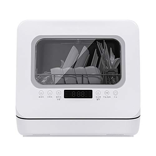 Lavavajillas De Encimera Portátil Completo con 5 Programas, Lavavajillas Inteligente para El Hogar, Lavadora De Frutas Y Verduras