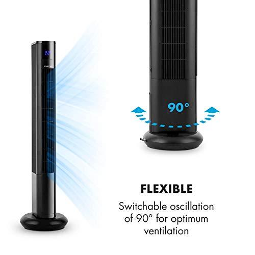 Klarstein Skyscraper 3G Säulenventilator Standventilator 48W Luftdurchsatz 1.633 m³/h Touchpanel Fernbedienung schwarz