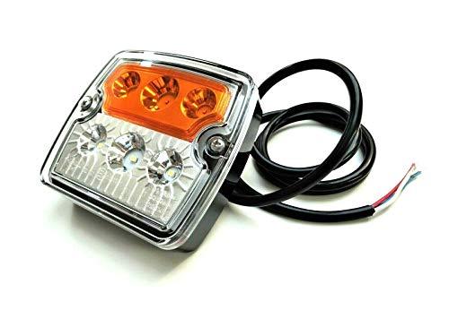 LED Blink-Positionsleuchte E9 12V 24V für Anhänger, LKWs, PKWs, Wohnmobile, Wohnwagen, Traktoren, Bagger usw.