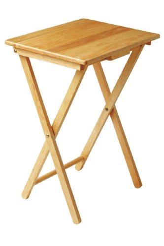 Premier Housewares Snack Table, 66 x 48 x 37 cm - Rubberwood