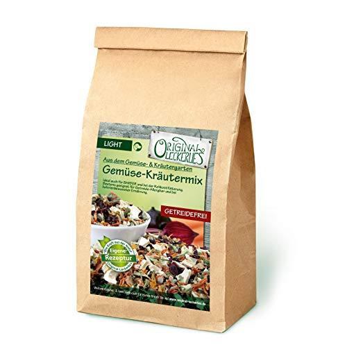 Original-Leckerlies: Gemüse-Kräutermix, 1 kg getreidefreie Gemüseflocken, Hundeflocken, Hundefutter, Naturprodukt für Hunde, barfen