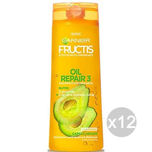 Fructis Juego de 12champú Oleo Repair-3Secos dann Cuidado del Cabello, Multicolor, única