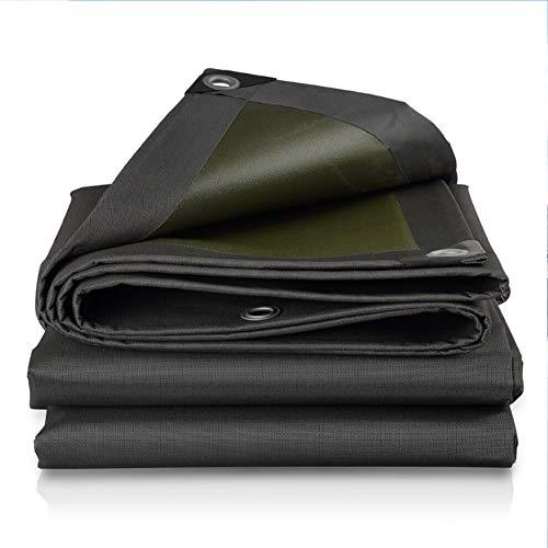 WONG wit dekzeil voor camper, waterbestendig, zwart buiten, van tarpsulin, met de afmetingen van het oog 10