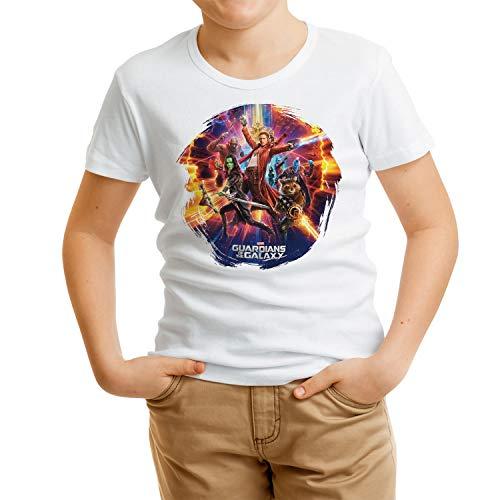 Camiseta Niño Superhéroes, Guardianes de la Galaxia (Blanco, 11 años)