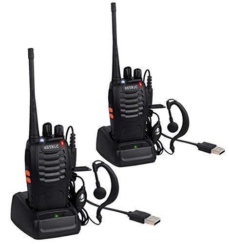 ESYNiC Paio Walkie Talkie Lunga Distanza Due-Via Radio UHF 400-470MHz con Auricolari...