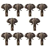 Cucumis Elephant Style Picture Link Soft Nail Link Message Nail That Do Not Need Accessories Push Pin Hanger 10 Pcs (Bronze)