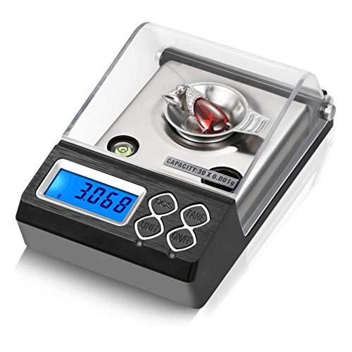 0.001g Escala de miligramos digital profesional de alta precisión Mini balanza electrónica Escala de polvo Joyería de oro Escala de quilates 20g / 0.001g