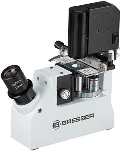 Bresser Mikroskop 40-400x Science XPD-101 kompaktes, inverses Profi-Reisemikroskop mit Phasenkontrast für biologische oder medizinische Feldforschung