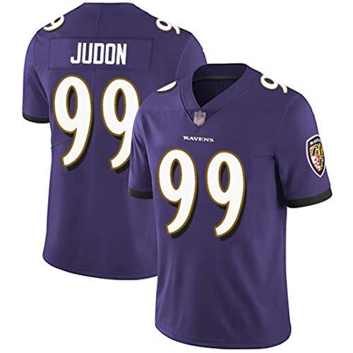 American Football Trikots Matt Judon 99# -Baltimore Ravens Rugby Jersey Besticktes schnell trocknendes Material, Fußball Kurzarm Sport Top T-Shirt-Purple-L(180~185)