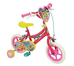 """30cm (12"""") puncture proof tyres with deep dread for stability Fully enclosed printed chainguard Front and rear caliper brakes and removable stabilisers Adjustable handlebar height 61-63cm and adjustable seat height 41-46cm Cool character graphics and..."""