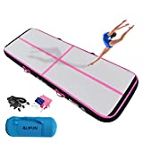 ALIFUN Air Mat Tumble Exercise Gymnastics Inflatable Tumbling Mat 10ft 13ft 16ft 20ft 23ft 26ft Training Mat Thick 4/8 Inches with Electric Air Pump for Home Use/Gym/Training/Cheerleading