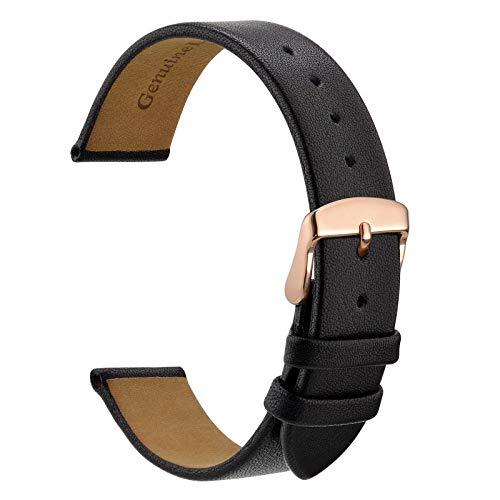 WOCCI Correa de reloj de 8 mm, 10 mm, 12 mm, 14 mm, 16 mm, 18 mm, 20 mm, elegantes correas de repuesto de piel auténtica para hombres o mujeres