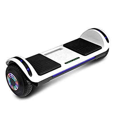 cho Hoverboard Hover Board Electric Scooter Two-Wheel Smart Self Balancing Speaker (Solid White)