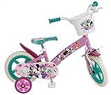 Toimsa 609 EN71 - Bicicletta per Bambini con Licenza Minnie, 12 Pollici, da 3 a 5 Anni