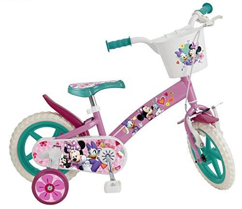 Toimsa 609 EN71 - Bicicleta infantil con licencia de Minnie Mouse de 12 pulgadas, de 3 a 5 años, color blanco , color/modelo surtido