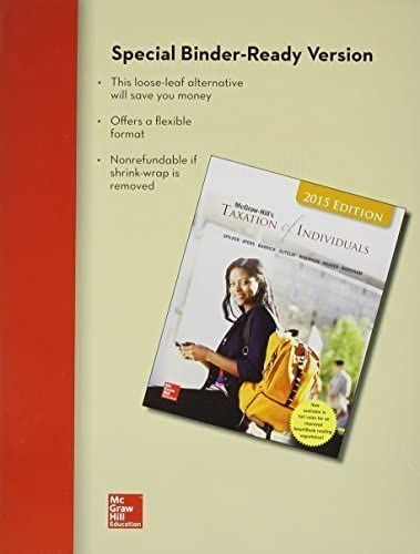 Loose Leaf for McGraw Hill s Taxation of Individuals and Business Entities 2015 Edition by Brian product image