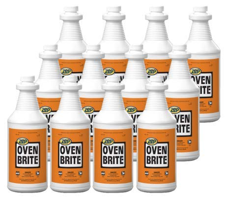 Zep Oven Brite Stove and Oven Cleaner 32 oz 104801 (Case of 12) Penetrates tough, baked-on soils, carbon deposits, grease and grime- This Product is For Business Customers Only