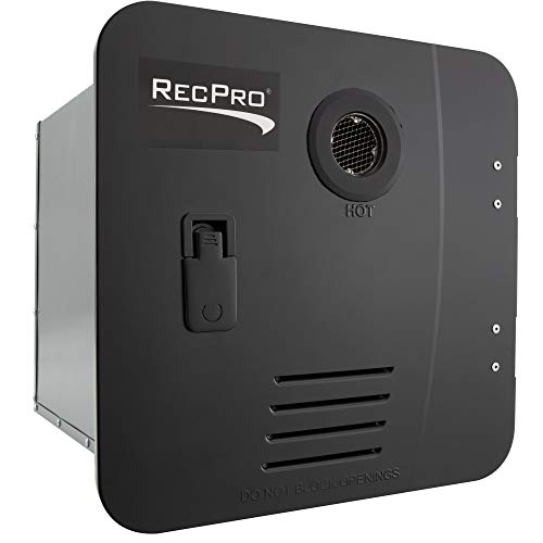 RecPro RV Tankless Water Heater | On Demand Hot Water Heater | Gas Water Heater | Remote Control Included (Black)