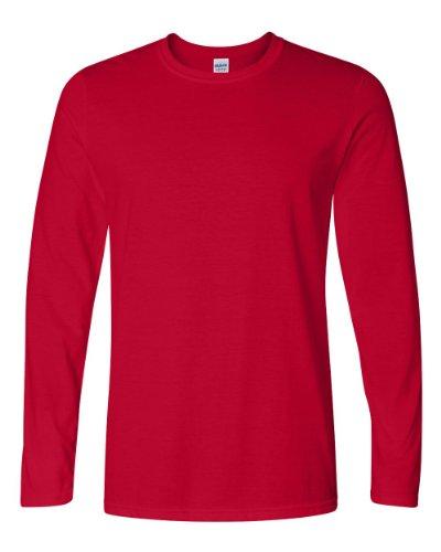 Gildan Herren T-Shirt Ultra Cotton Langarm Rot Cardinal Red XL
