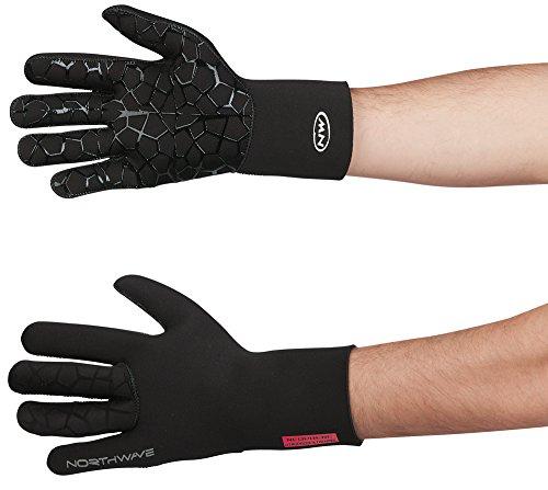Northwave Neoprene Fahrrad Handschuhe lang wasserdicht schwarz 2020: Größe: S (7)