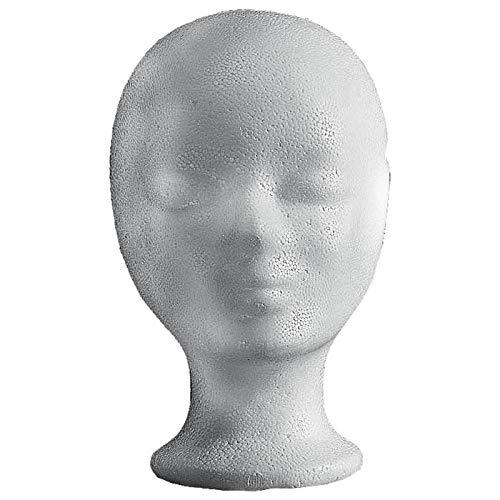 Efalock - Testa in schiuma di Styrol, 2 confezioni (1 pezzo) – Set di 2