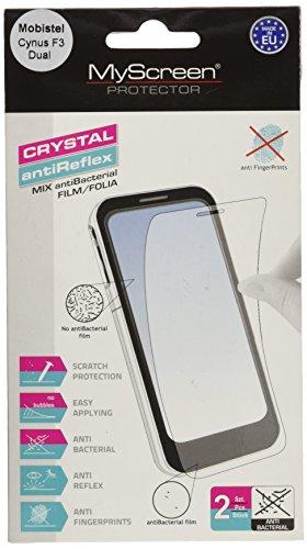 Mobistel 2CCHB+AGPB Displayschutzfolie (2X Folien, 1x Mikrofasertuch, 1x Applikator) für Cynus F3 Dual