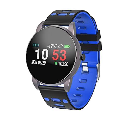 Smartwatch, fitnesstracker met hartslagmeter, bloeddrukmeting, waterdicht IP67, hartslagmeter, stappenteller, horloge voor dames en heren, oproepen, sms, SNS