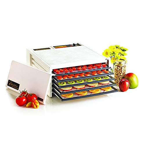Excalibur Black Door 3500W Electric Food Dehydrator, 5-Tray, White (Discontinued by), Medium